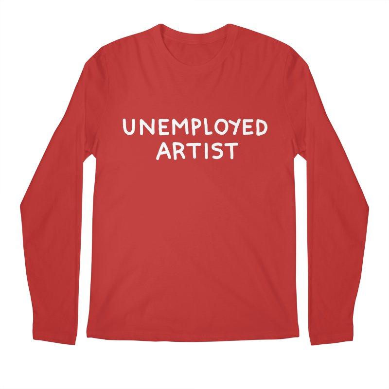 UNEMPLOYED ARTIST white Men's Regular Longsleeve T-Shirt by Tittybats's Artist Shop