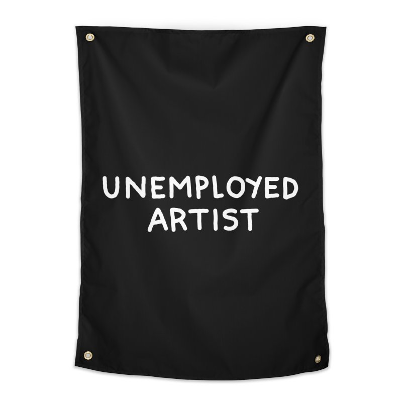 UNEMPLOYED ARTIST white Home Tapestry by Tittybats