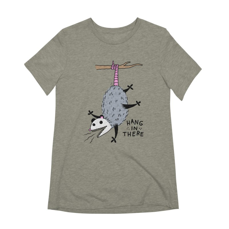 HANG IN THERE POSSUM Women's Extra Soft T-Shirt by Tittybats