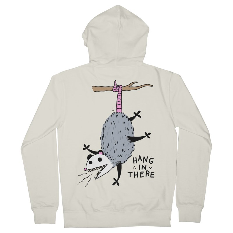HANG IN THERE POSSUM Women's French Terry Zip-Up Hoody by Tittybats