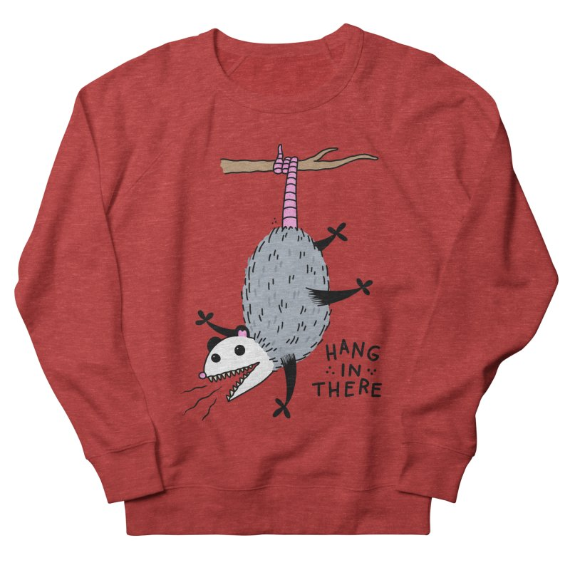 HANG IN THERE POSSUM Men's French Terry Sweatshirt by Tittybats