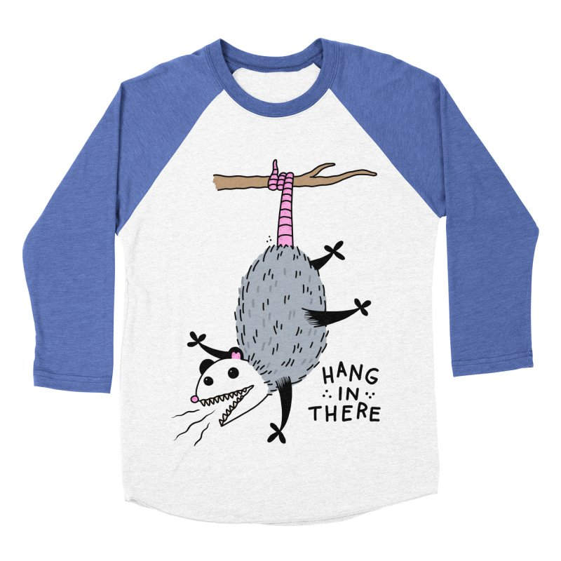 HANG IN THERE POSSUM Women's Baseball Triblend Longsleeve T-Shirt by Tittybats