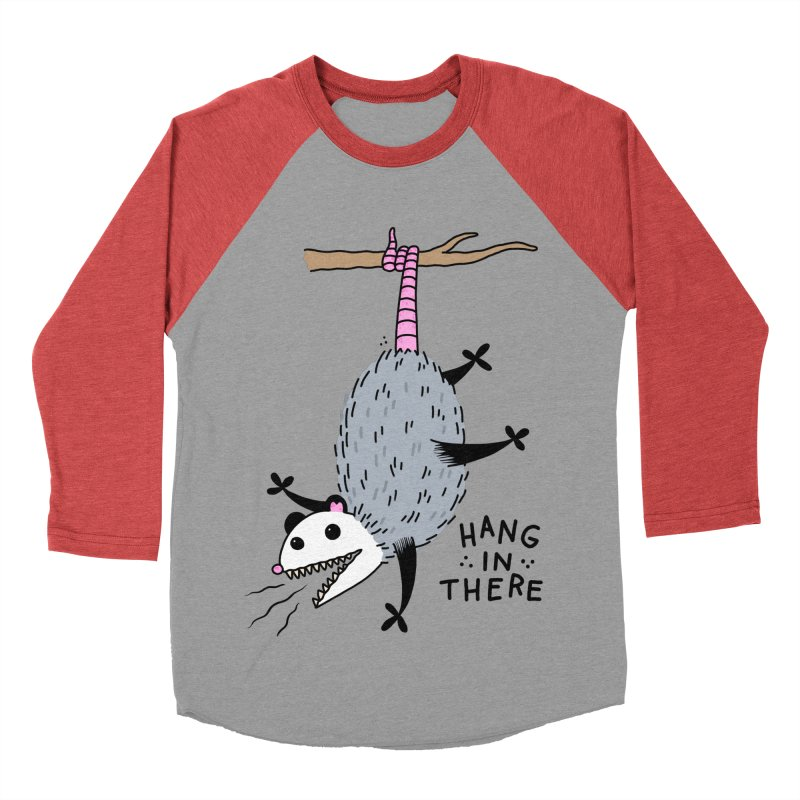 HANG IN THERE POSSUM Men's Baseball Triblend Longsleeve T-Shirt by Tittybats's Artist Shop