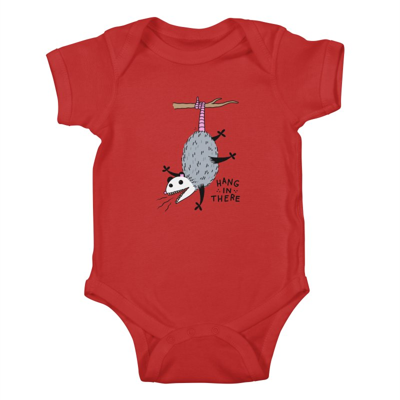 HANG IN THERE POSSUM Kids Baby Bodysuit by Tittybats