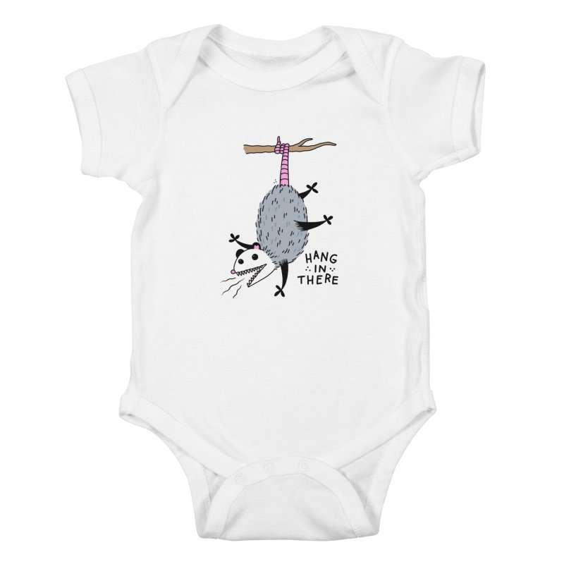 HANG IN THERE POSSUM Kids Baby Bodysuit by Tittybats's Artist Shop