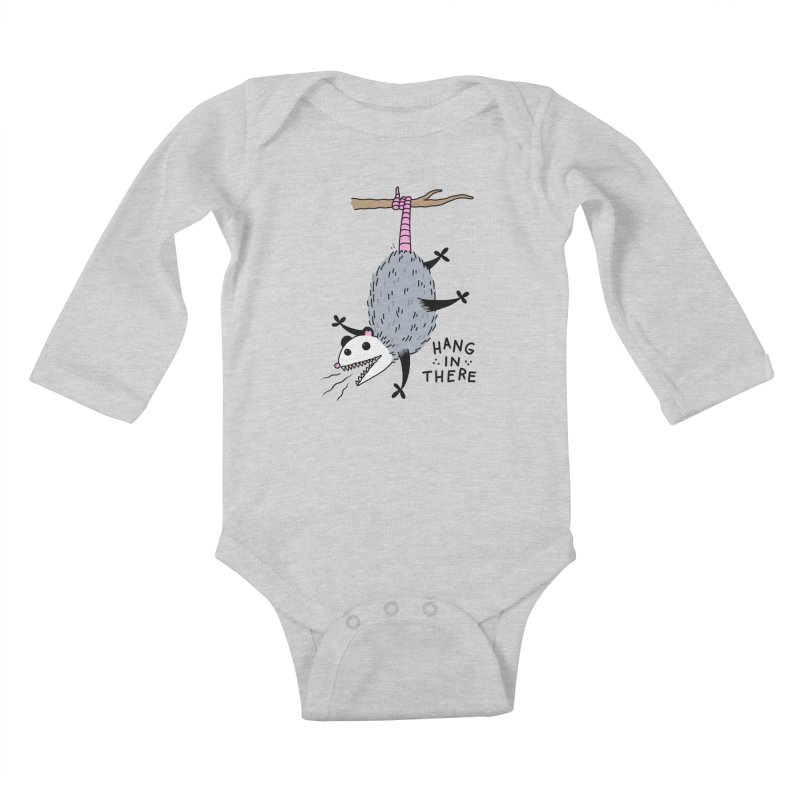 HANG IN THERE POSSUM Kids Baby Longsleeve Bodysuit by Tittybats