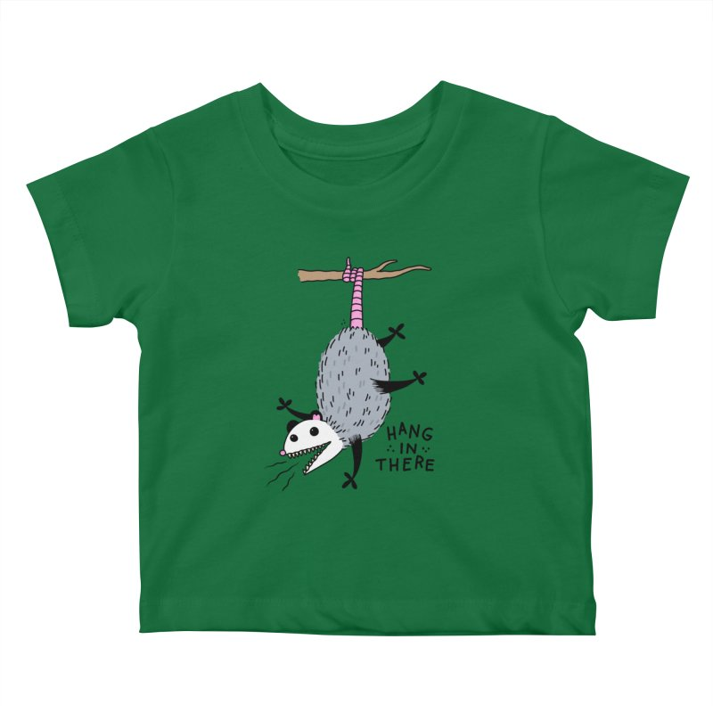 HANG IN THERE POSSUM Kids Baby T-Shirt by Tittybats