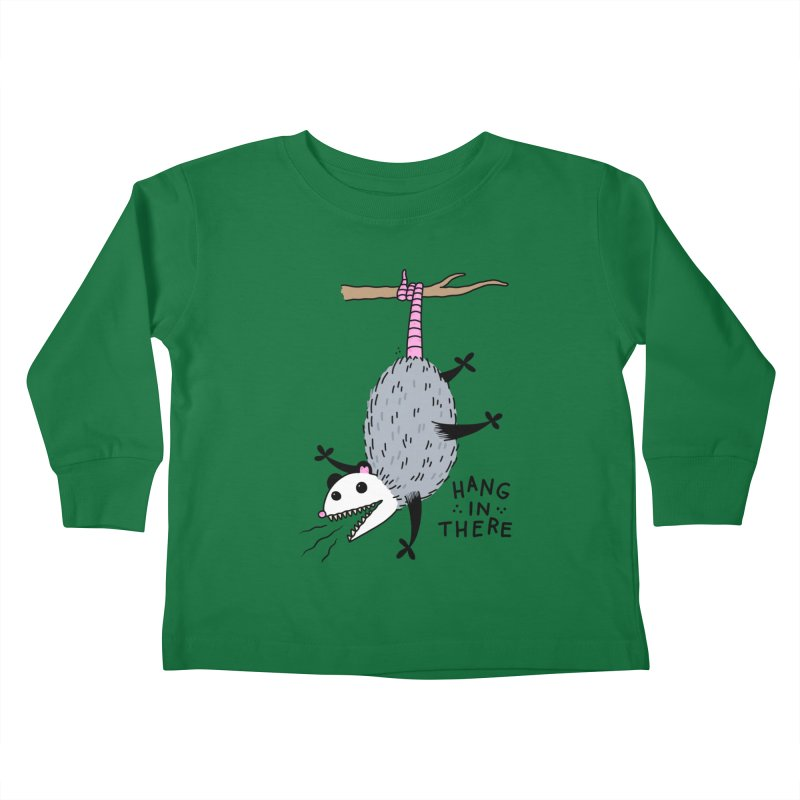 HANG IN THERE POSSUM Kids Toddler Longsleeve T-Shirt by Tittybats