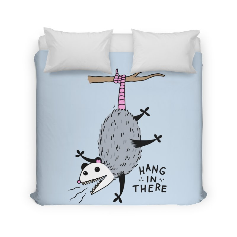HANG IN THERE POSSUM Home Duvet by Tittybats