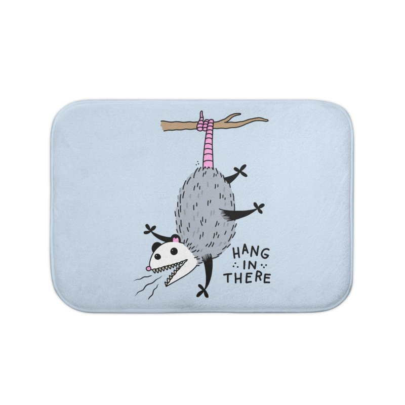 HANG IN THERE POSSUM Home Bath Mat by Tittybats