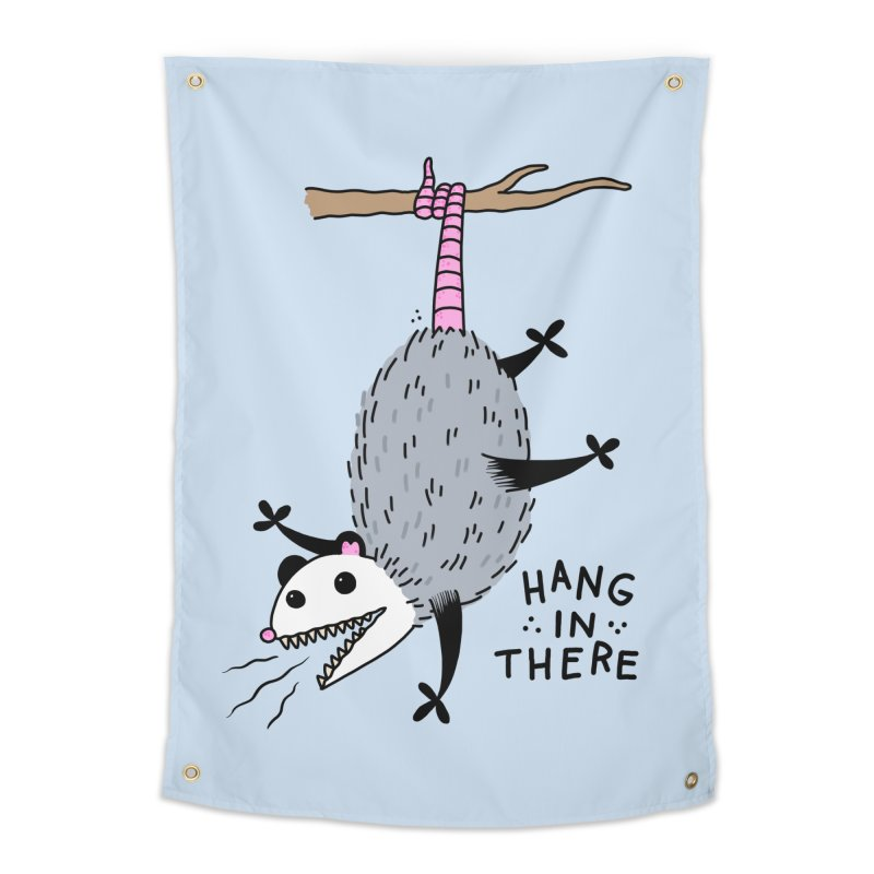 HANG IN THERE POSSUM Home Tapestry by Tittybats