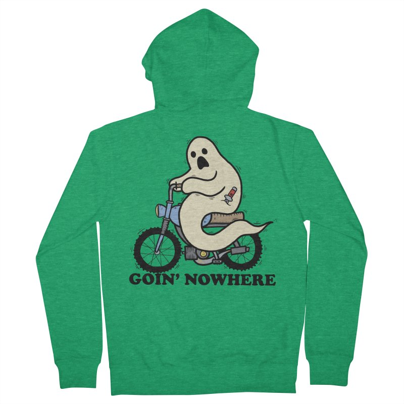 GOIN' NOWHERE Men's French Terry Zip-Up Hoody by Tittybats