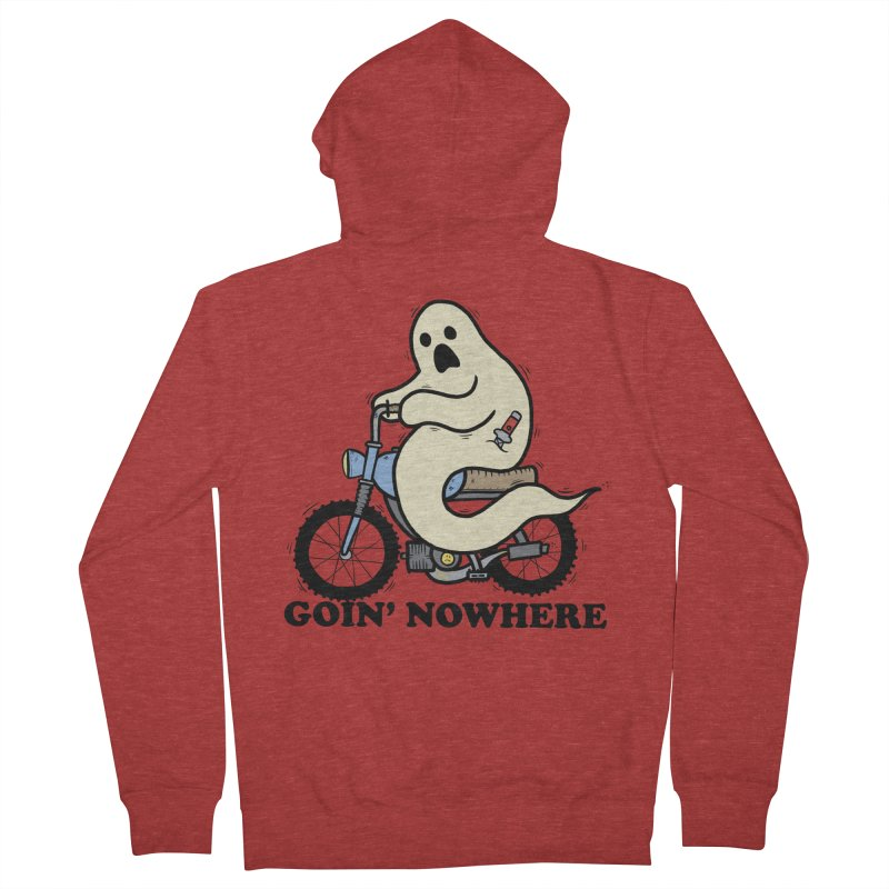 GOIN' NOWHERE Men's Zip-Up Hoody by Tittybats