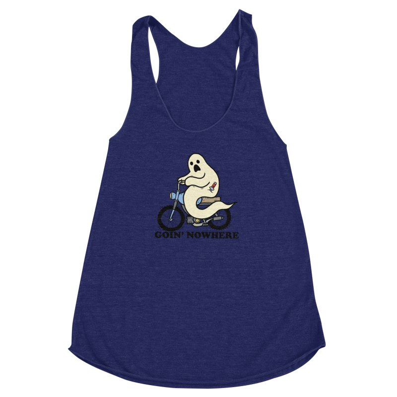 GOIN' NOWHERE Women's Racerback Triblend Tank by Tittybats