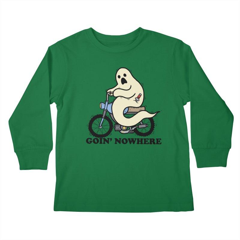 GOIN' NOWHERE Kids Longsleeve T-Shirt by Tittybats