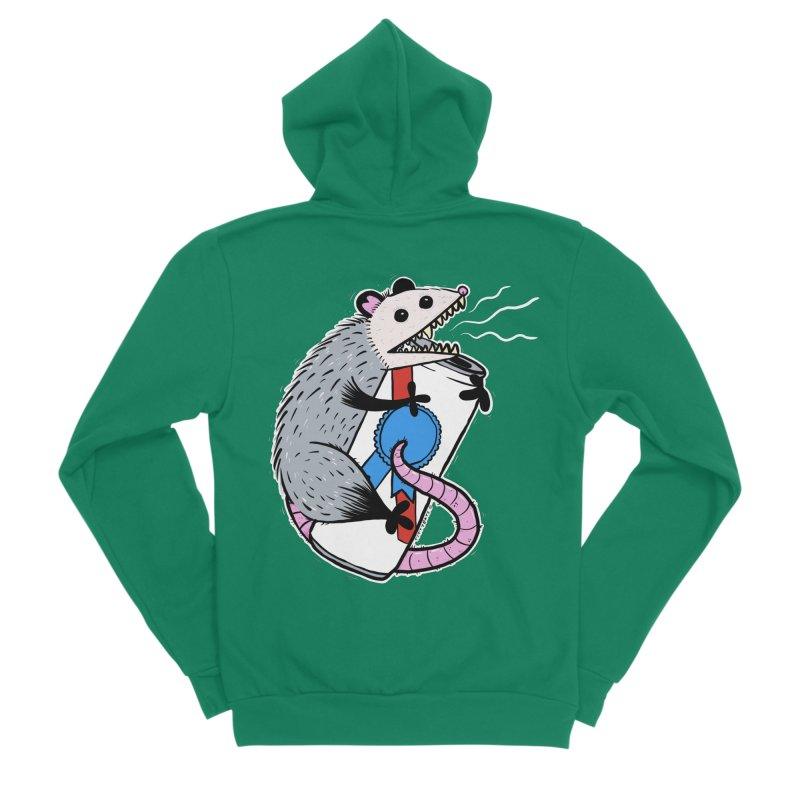 DRUNK POSSUM Men's Sponge Fleece Zip-Up Hoody by Tittybats