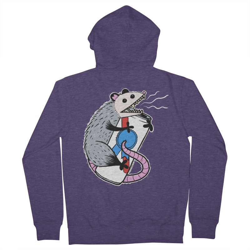 DRUNK POSSUM Men's Zip-Up Hoody by Tittybats