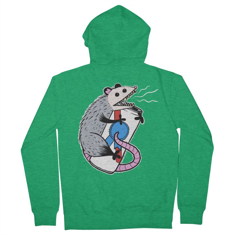 DRUNK POSSUM Men's French Terry Zip-Up Hoody by Tittybats