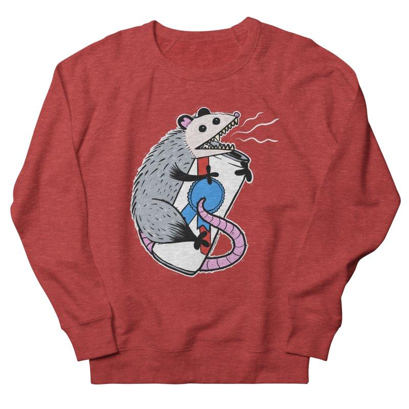 DRUNK POSSUM Women's French Terry Sweatshirt by Tittybats's Artist Shop