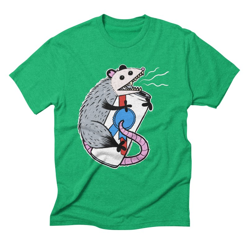 DRUNK POSSUM Men's Triblend T-Shirt by Tittybats's Artist Shop