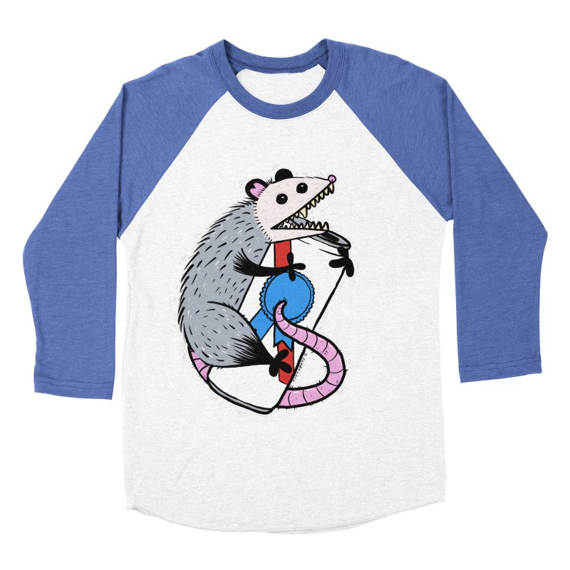 DRUNK POSSUM Women's Baseball Triblend Longsleeve T-Shirt by Tittybats