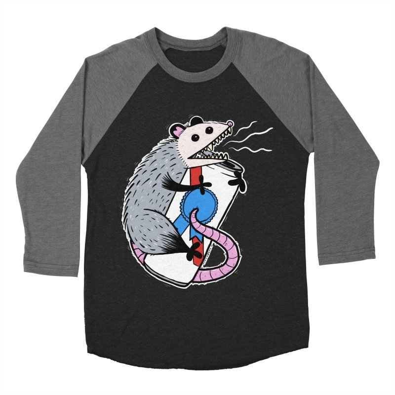 DRUNK POSSUM Men's Baseball Triblend Longsleeve T-Shirt by Tittybats's Artist Shop