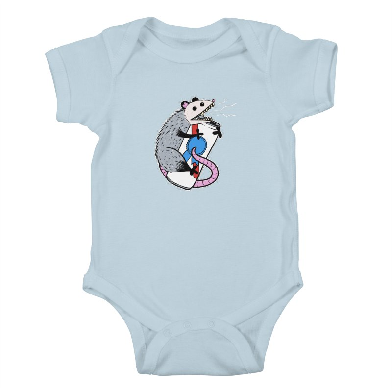 DRUNK POSSUM Kids Baby Bodysuit by Tittybats