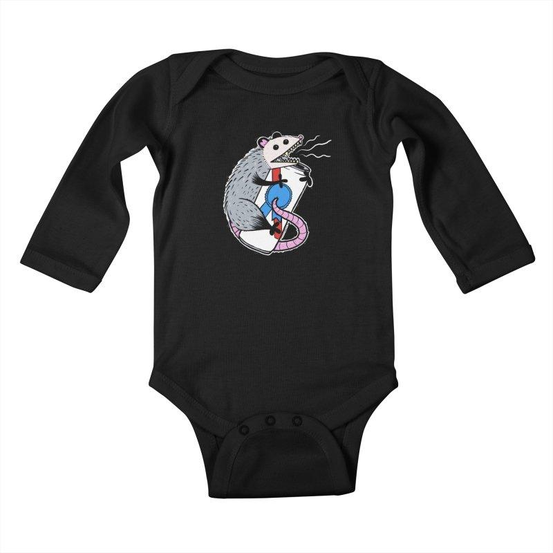 DRUNK POSSUM Kids Baby Longsleeve Bodysuit by Tittybats