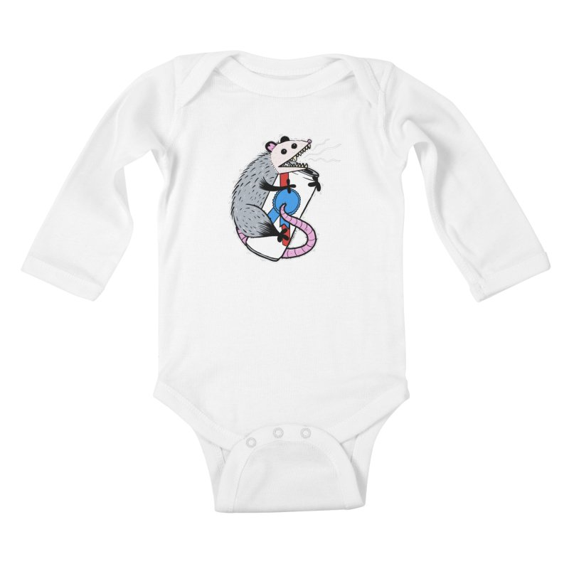 DRUNK POSSUM Kids Baby Longsleeve Bodysuit by Tittybats