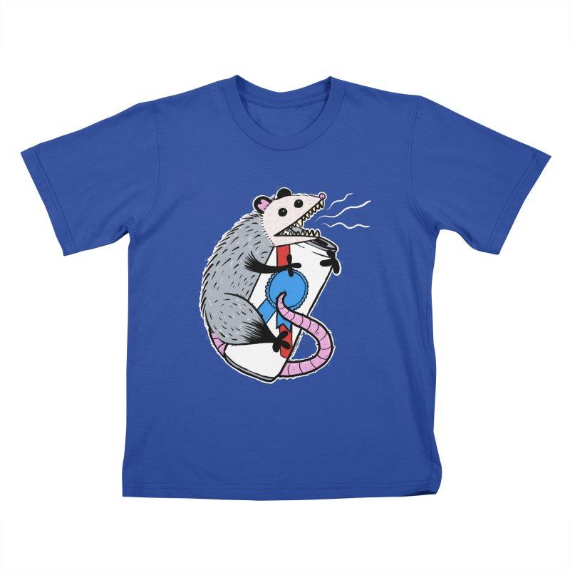 DRUNK POSSUM Kids T-Shirt by Tittybats