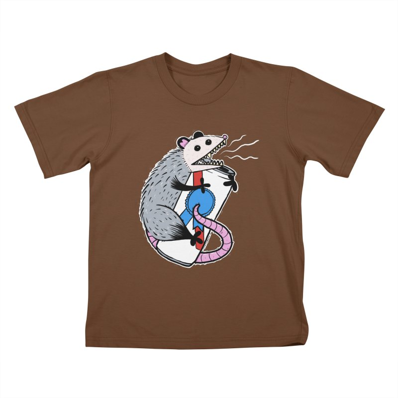 DRUNK POSSUM Kids T-Shirt by Tittybats's Artist Shop