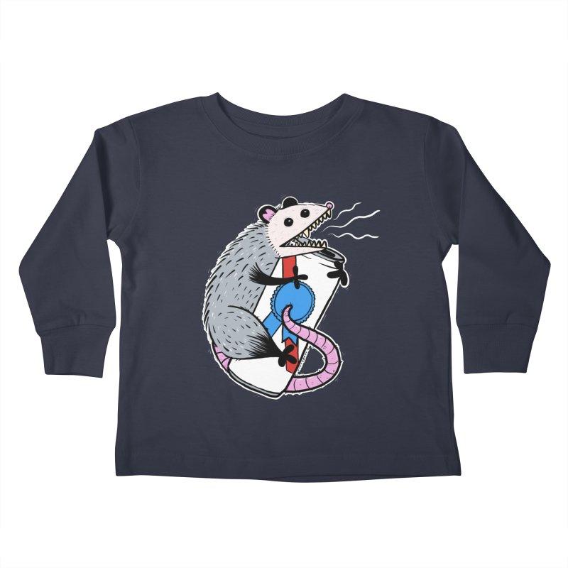 DRUNK POSSUM Kids Toddler Longsleeve T-Shirt by Tittybats