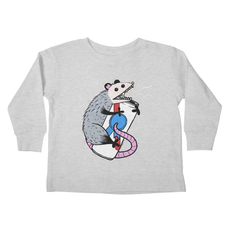 DRUNK POSSUM Kids Toddler Longsleeve T-Shirt by Tittybats's Artist Shop