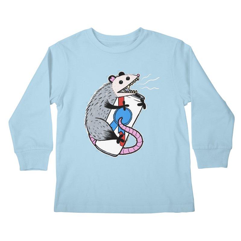 DRUNK POSSUM Kids Longsleeve T-Shirt by Tittybats