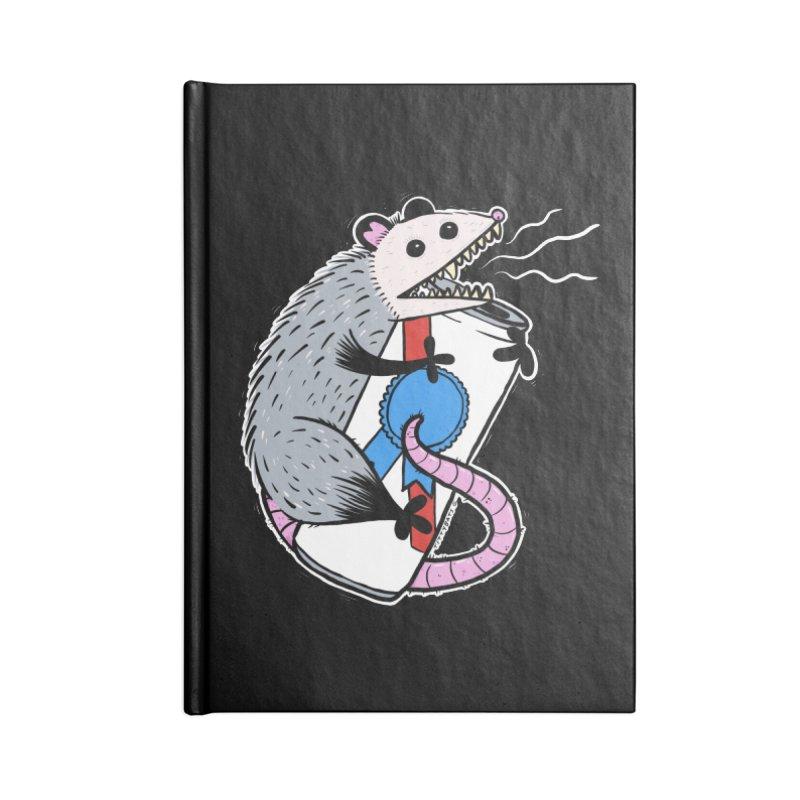 DRUNK POSSUM Accessories Lined Journal Notebook by Tittybats