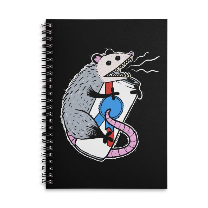 DRUNK POSSUM Accessories Lined Spiral Notebook by Tittybats