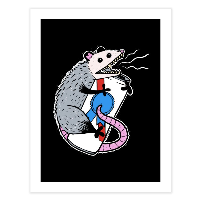 DRUNK POSSUM Home Fine Art Print by Tittybats