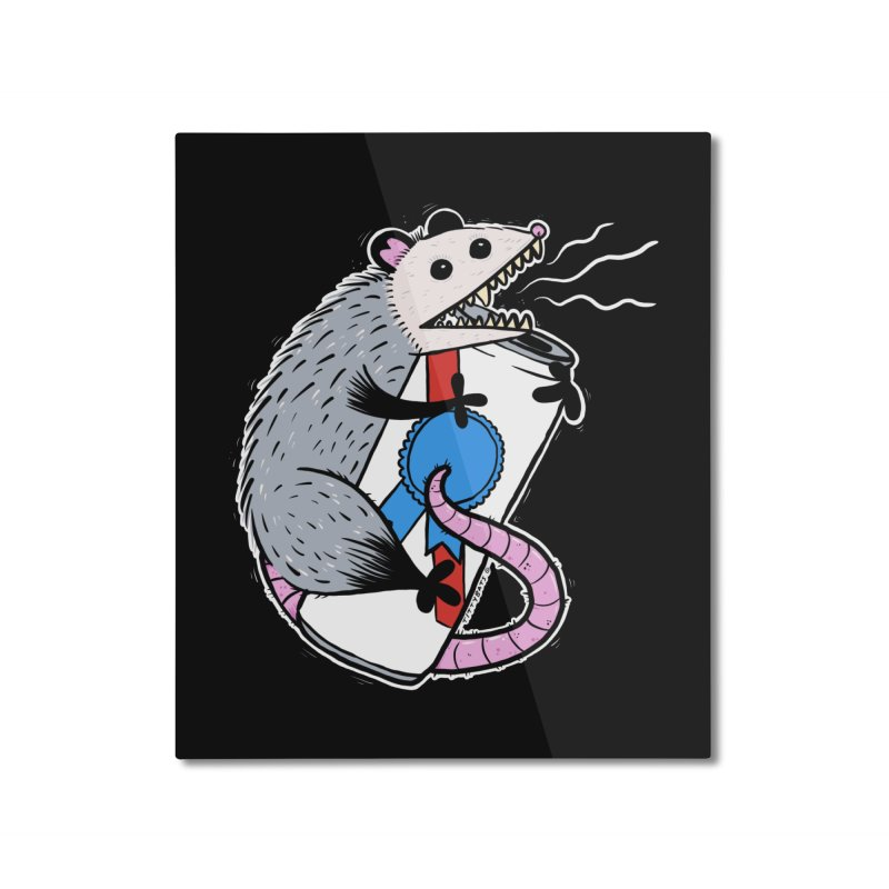 DRUNK POSSUM Home Mounted Aluminum Print by Tittybats's Artist Shop