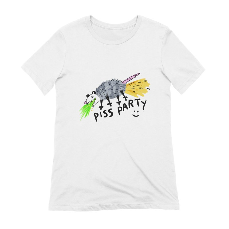PISS PARTY Women's Extra Soft T-Shirt by Tittybats