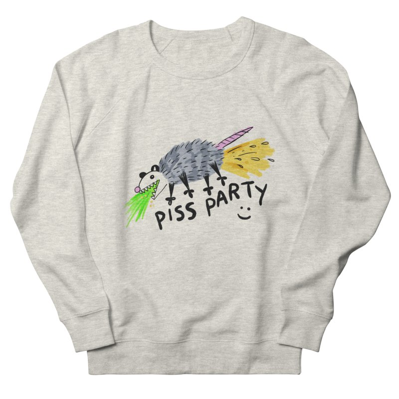 PISS PARTY Women's French Terry Sweatshirt by Tittybats