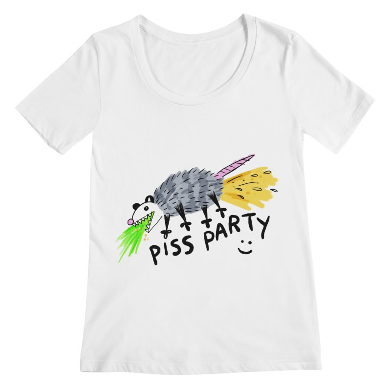 PISS PARTY Women's Regular Scoop Neck by Tittybats's Artist Shop