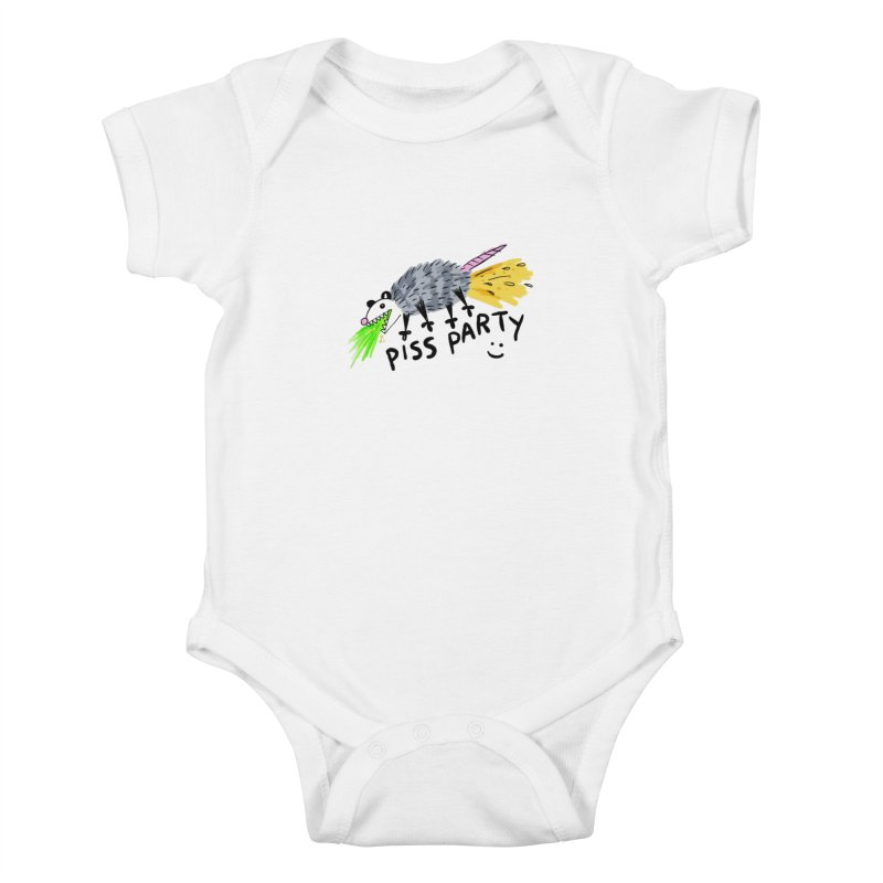 PISS PARTY Kids Baby Bodysuit by Tittybats