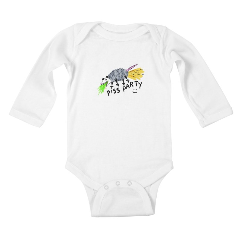 PISS PARTY Kids Baby Longsleeve Bodysuit by Tittybats