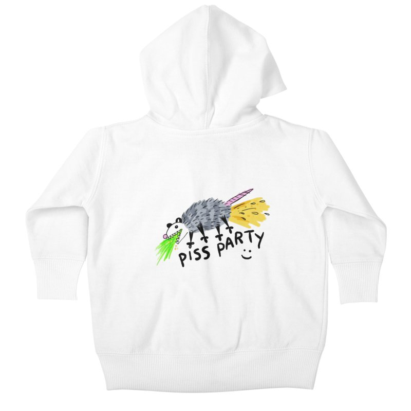 PISS PARTY Kids Baby Zip-Up Hoody by Tittybats