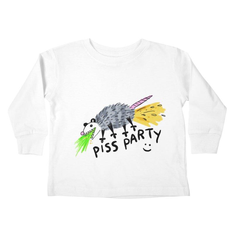 PISS PARTY Kids Toddler Longsleeve T-Shirt by Tittybats