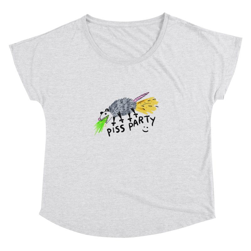 PISS PARTY Women's Dolman Scoop Neck by Tittybats