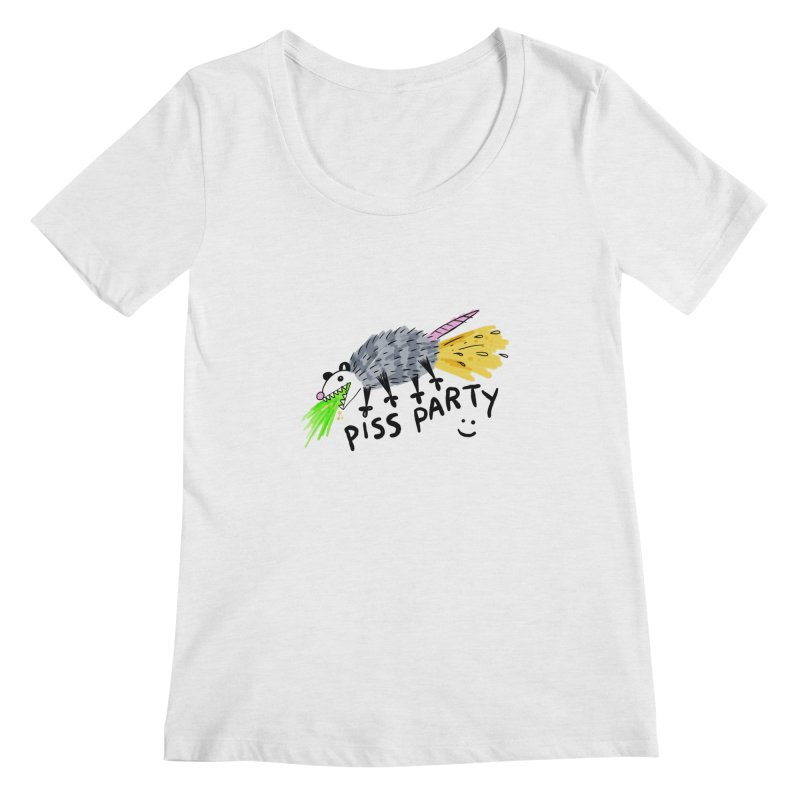 PISS PARTY Women's Regular Scoop Neck by Tittybats