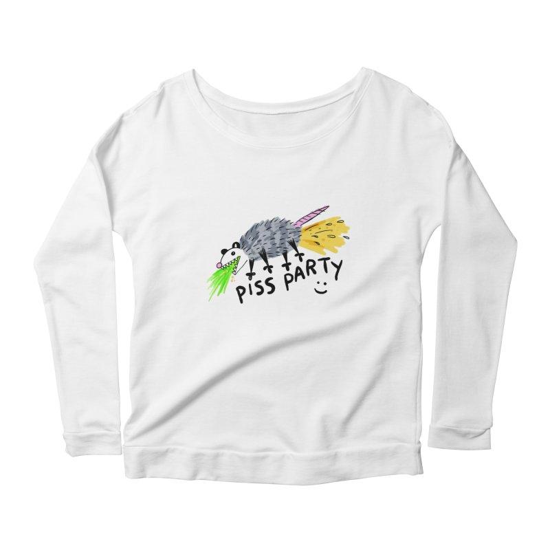 PISS PARTY Women's Scoop Neck Longsleeve T-Shirt by Tittybats