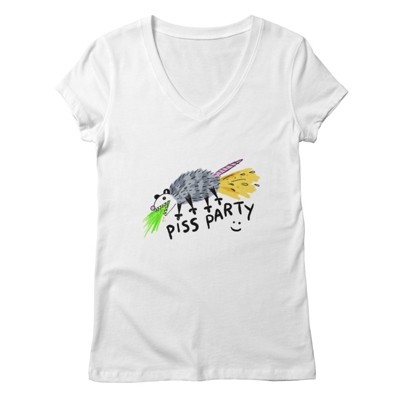 PISS PARTY Women's V-Neck by Tittybats