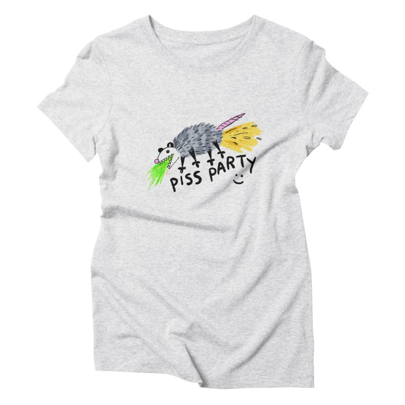 PISS PARTY Women's Triblend T-Shirt by Tittybats
